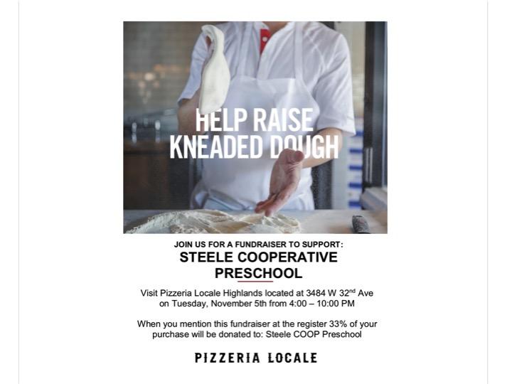 Steele Pizzeria Locale Fundraiser | November 5th